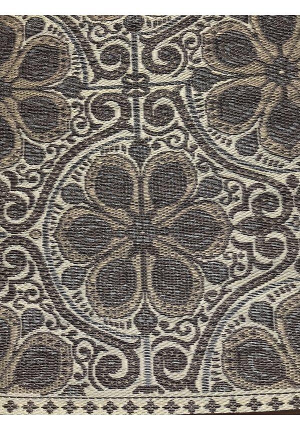 Bruin buitenkleed met taupe