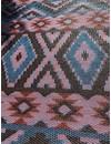 Buitenkleed indian patroon blauw met bruin