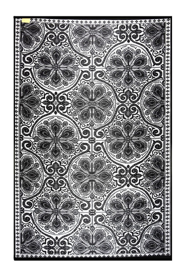 Zwart wit arabisch buitenkleed