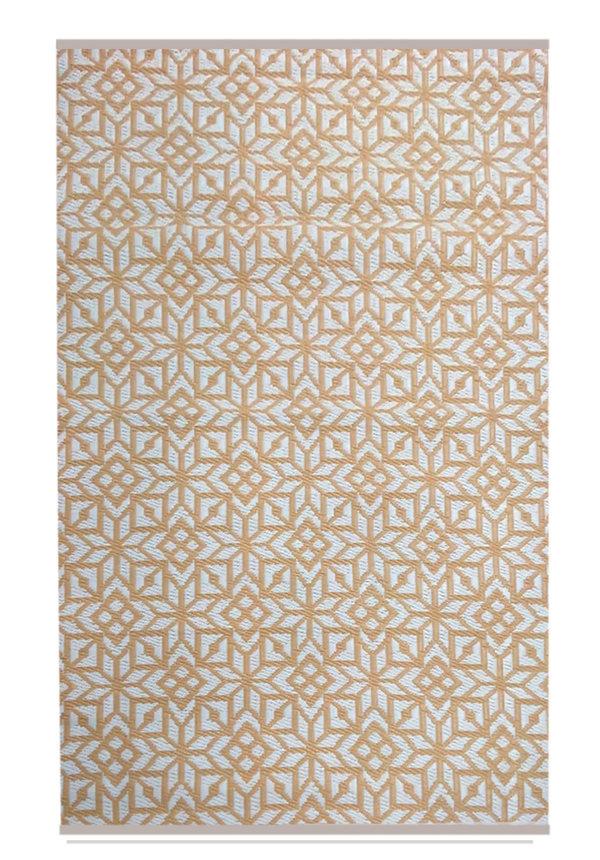 Marokkaanse buitenkleed beige wit
