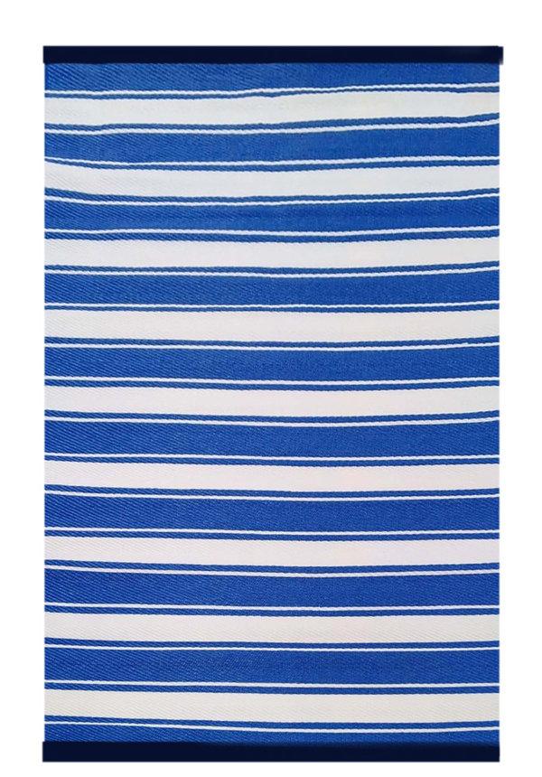 Buitenkleed blauw streep