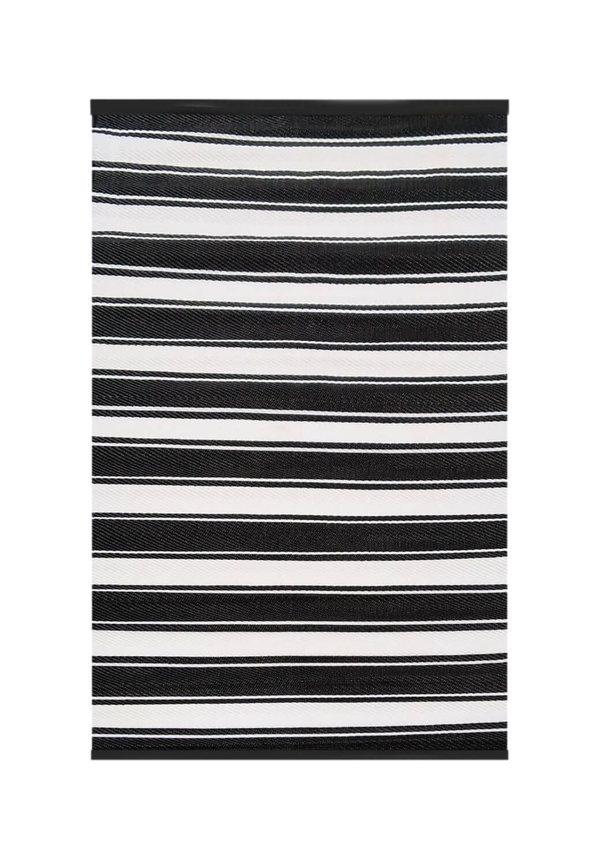 Zwart wit buitenkleed streep