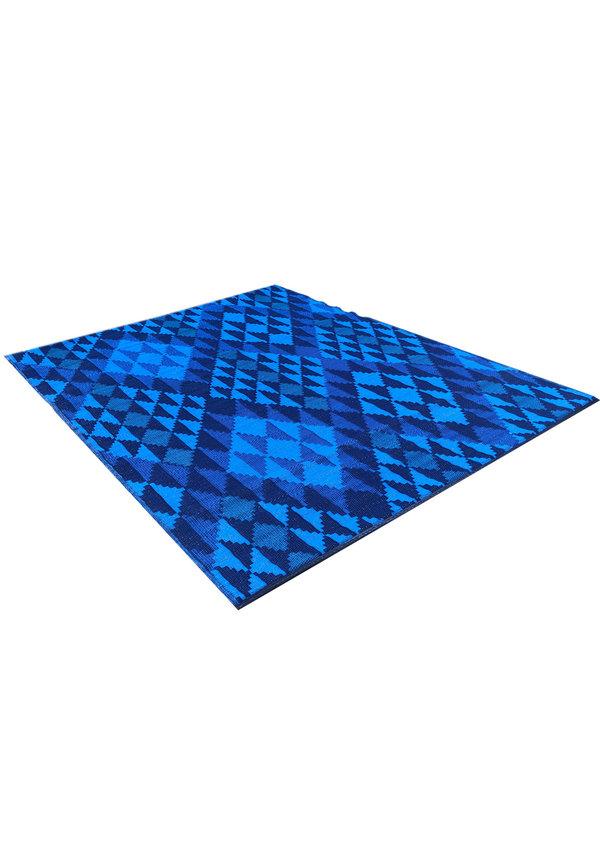xl blauw buitenkleed grafisch