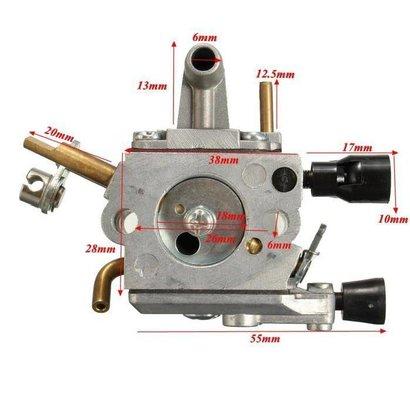 Carburateur passend op Stihl FS400, FS450, FS480, SP400, SP450, SP451 en SP481