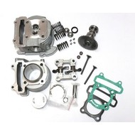 Cilinderkit 50cc met zuiger, cilinderkop, camshaft en rocker