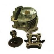 Cilinderkop 50cc met kleppen, camshaft en rocker GY6