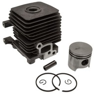 Cilinder met Zuiger passend op Stihl BR45, KM55, FS55, HL45, HS45, FC55, FS38, FS45, FS46, BT45, BG45, BG46, BG55, BG46, BG55, BG65, BG85, SH55, SH85 - 34mm