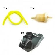 Benzinetank met filter en slang voor mini quad