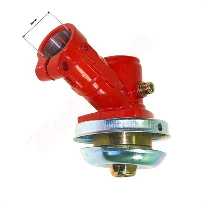 Haakse Koppeling 28mm 7 Tands Rood