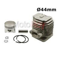 2 takt cilinder 44 mm met zuiger, bougie en pakkingen
