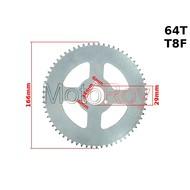Achtertandwiel voor minibike en quad 64 tands T8F