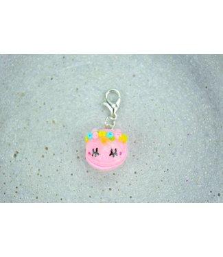 """Cute Clay """"Hellrosa Mini-Einhorn Macaron"""" - Charm/Anhänger"""