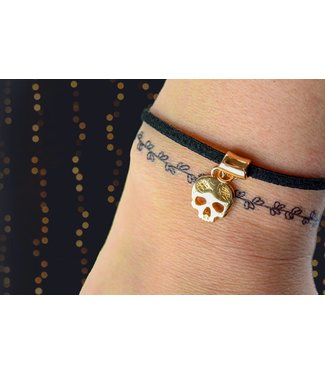 """Cute Clay """"Rosé-Totenkopf"""" - Zierliches Armband"""