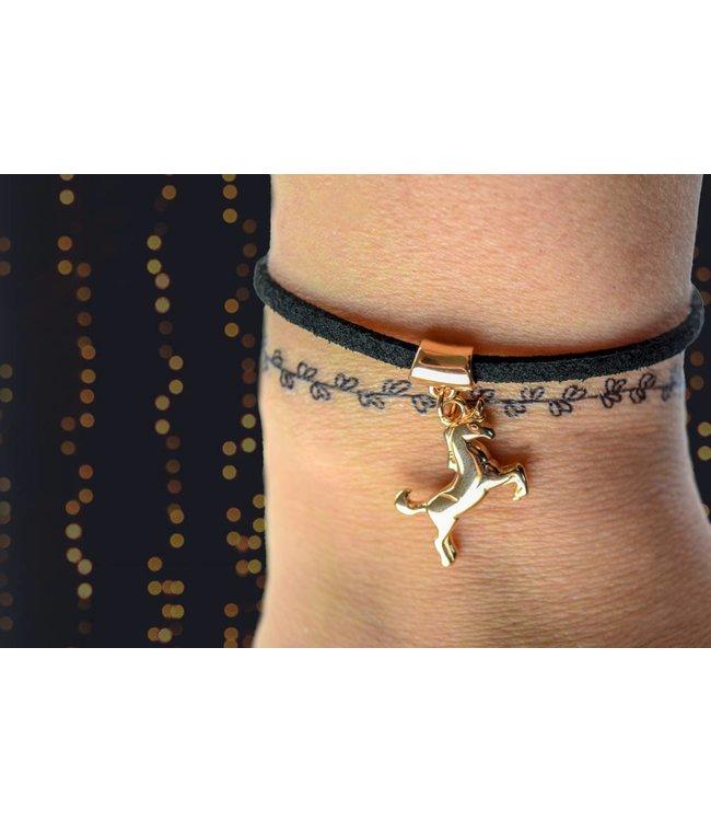 """Cute Clay """"Rosé-Einhorn"""" - Zierliches Armband"""