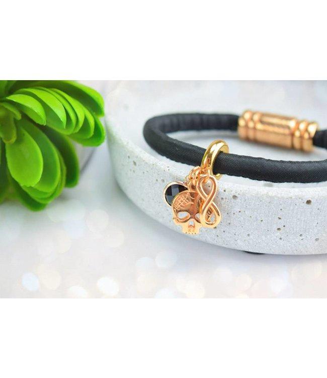 """Cute Clay """"Roségold Skull"""" - Armband"""