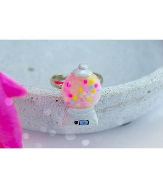 "Cute Clay ""Kaugummi-Automat"" - Ring"