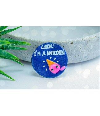 "Cute Clay ""Look I'm A Unicorn"" - Magnet"