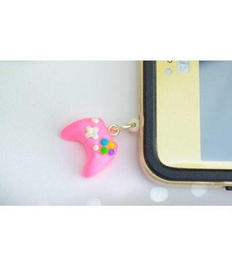 "Cute Clay ""Controller pink"" - Handyanhänger"
