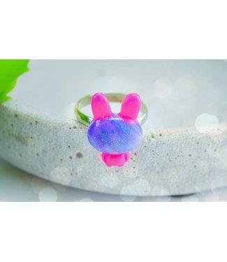"Cute Clay ""Galaxy-Hase"" - Ring"
