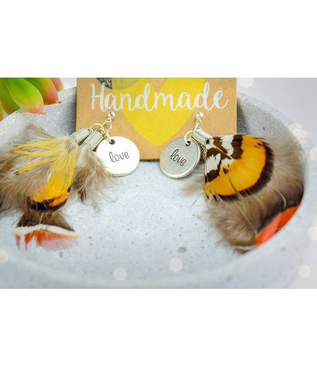 """Cute Clay """"Summer Feather with love"""" - Ohrhänger"""