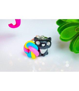 "Cute Clay ""Rainbow Cat"" - Schlüsselanhänger"
