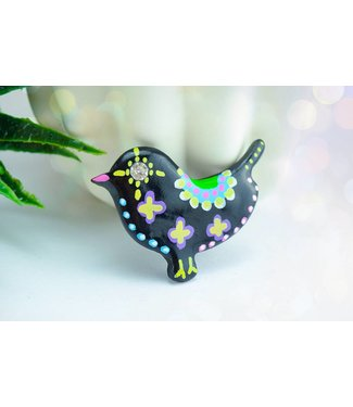 "Cute Clay ""Black Bird Nr. 3"" - Magnet"