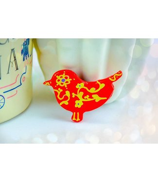 "Cute Clay ""Red Bird"" - Magnet"