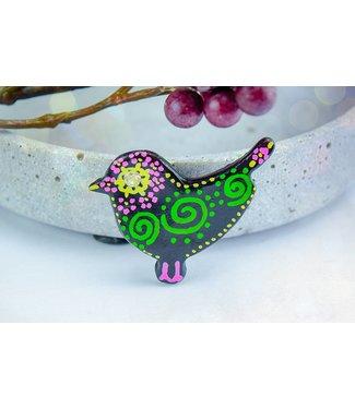 "Cute Clay ""Black Bird Nr. 4"" - Magnet"