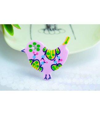 "Cute Clay ""Pastell-Vögelchen III"" - Magnet"