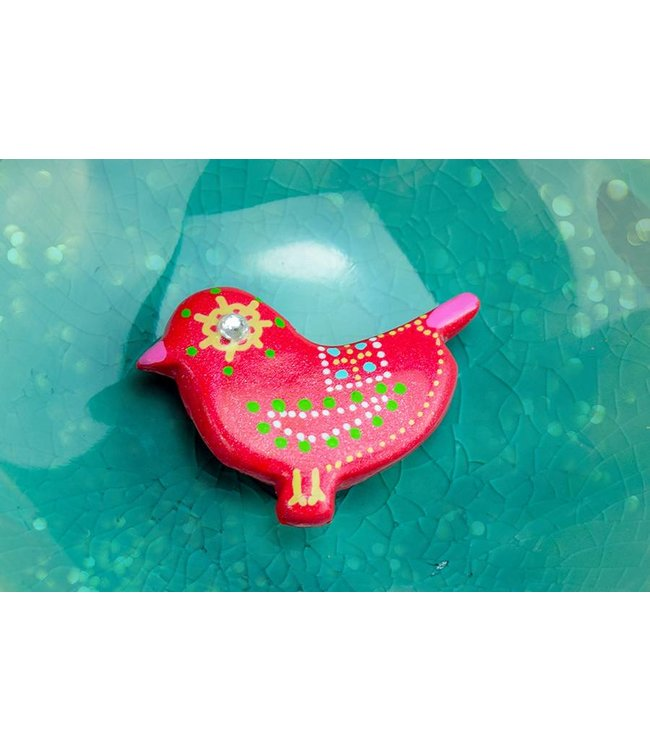 "Cute Clay ""Dunkelrosa Vogel Nr. 1"" - Magnet"