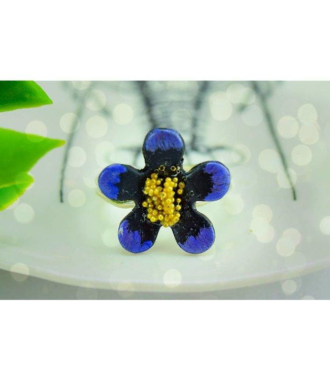 "Cute Clay ""Purple Flower"" - Ring"