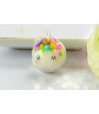"Cute Clay ""Flower Macaron Unicorn"" - Kette"