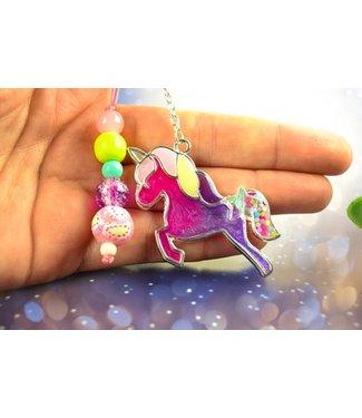 "Cute Clay ""Buntes Pony"" - Schlüsselanhänger"