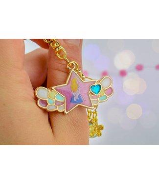 """Cute Clay """"Stern mit Flügeln"""" - Schlüsselanhänger"""