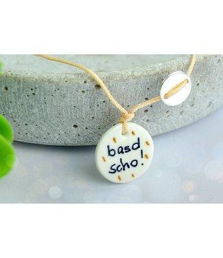 """Cute Clay """"Basd scho"""" - Spruch-Armband"""