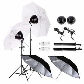 Fotostudio met reflectie paraplu