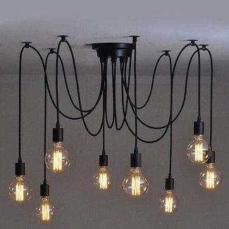 Industriële Hanglamp Plafondlamp Industrieel Designlamp 8 lampen