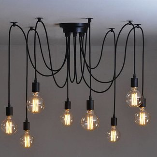Vintage Hanglamp Retro Kroonluchter industrieel