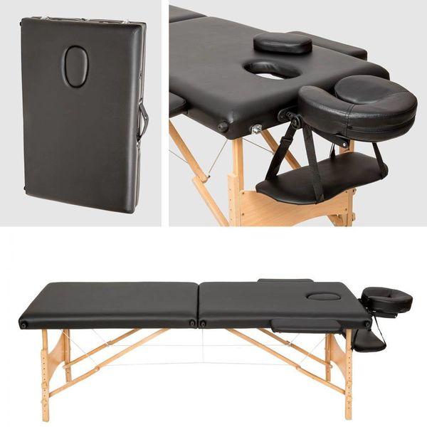 Massagebank inklapbaar en draagbaar