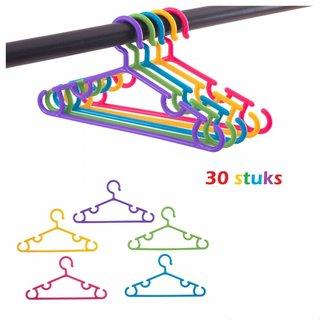 30 kleurrijke Kleerhangers voor kinderkleding