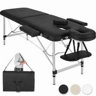 Massagebank aluminium, inklapbaar en draagbaar