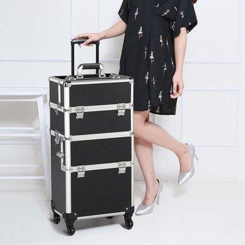 Cosmeticakoffer Kapperskoffer Visagistenkoffer met wieltjes