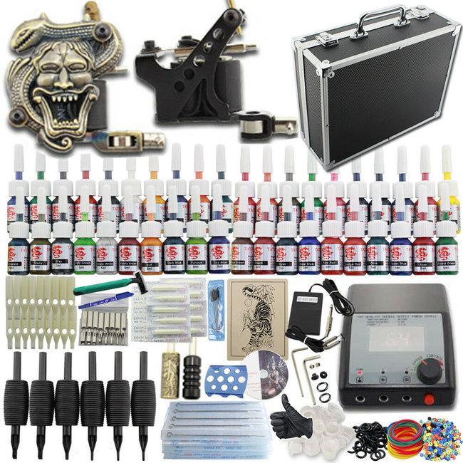 Tattoo set -  2 machines en 40 inkt inclusief koffer ACTIE