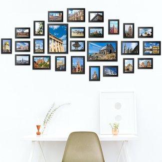 26x fotolijst met glas, fotowand set, verschillende formaten