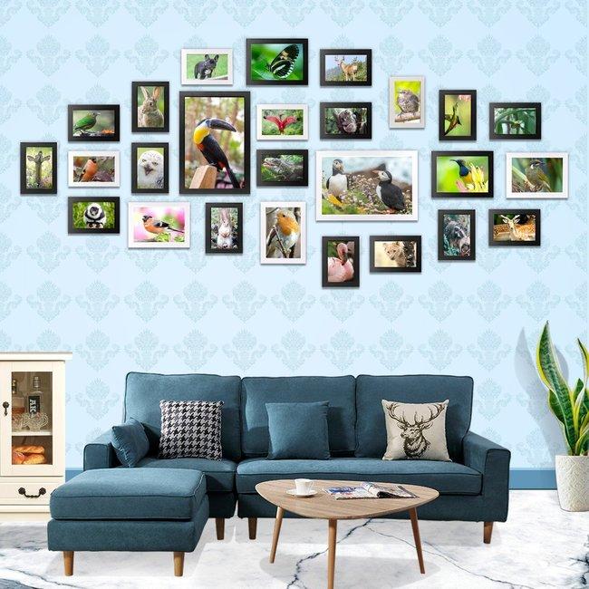 Fotokader Verschillende Fotos.26x Fotolijst Met Glas Fotowand Set Verschillende Formaten