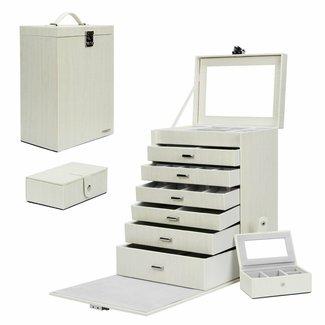 Sieradenkoffer, juwelenkoffer met extra minibox