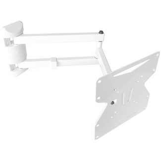 TV wandbeugel, muurbeugel uitrekbaar tot 60 cm wit