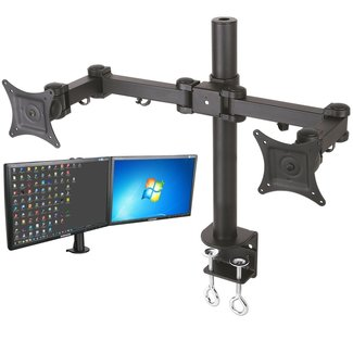 Tafelbevestiging voor twee beeldschermen
