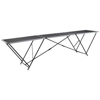 vidaXL Behangtafel inklapbaar 300x60x78 cm MDF en aluminium