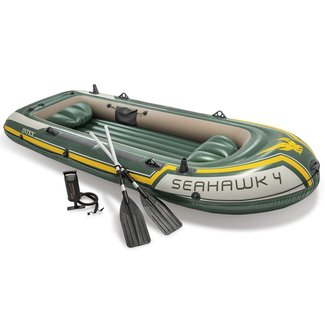 Intex Seahawk 4 Opblaasboot met roeispanen en pomp 68351NP